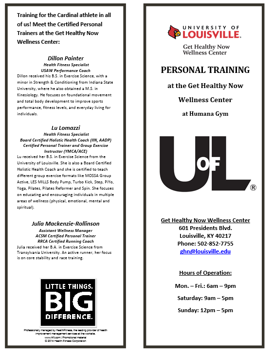 Personal Training — Get Healthy Now