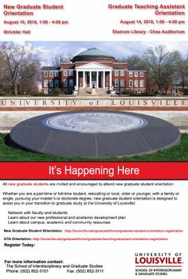 Graduate Orientation Flyer
