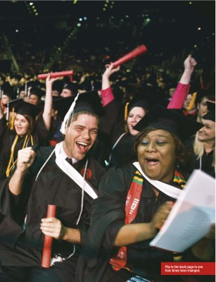 Other half of the University of Louisville magazine inside cover spread of BETH 2012 graduating class.