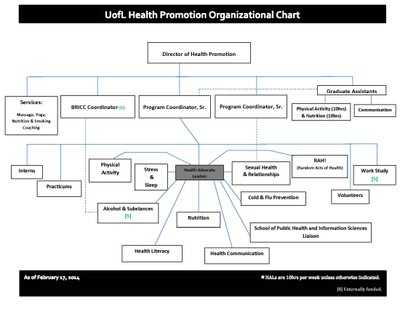 health promotion organizational chart