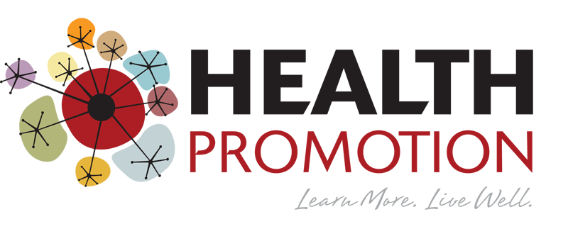health promotion logo and tag line: learn more, live well