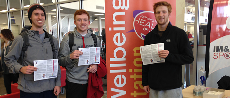 students promoting u-fit and nutrition navigators programs