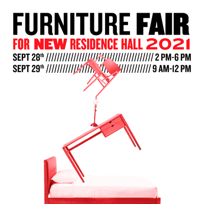 join us for the furniture fair on september 28 from 2 until 6 in the evening and on September 29 from 9 until noon. Cast your vote for the new hall furniture and be entered into a raffle. Prizes will be announced on Instagram after the event
