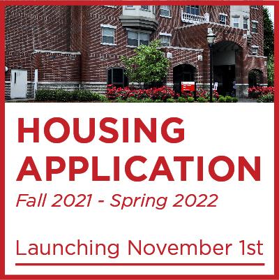 Fall 2021-Spring 2022 Housing Application Launching November First