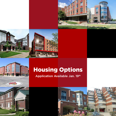 exterior of residence hall. Brick halls of various styles. application opens january nineteenth