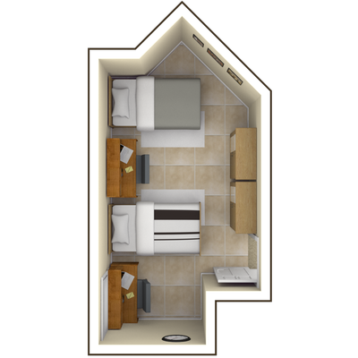 Louisville Hall Double Room — Campus Housing