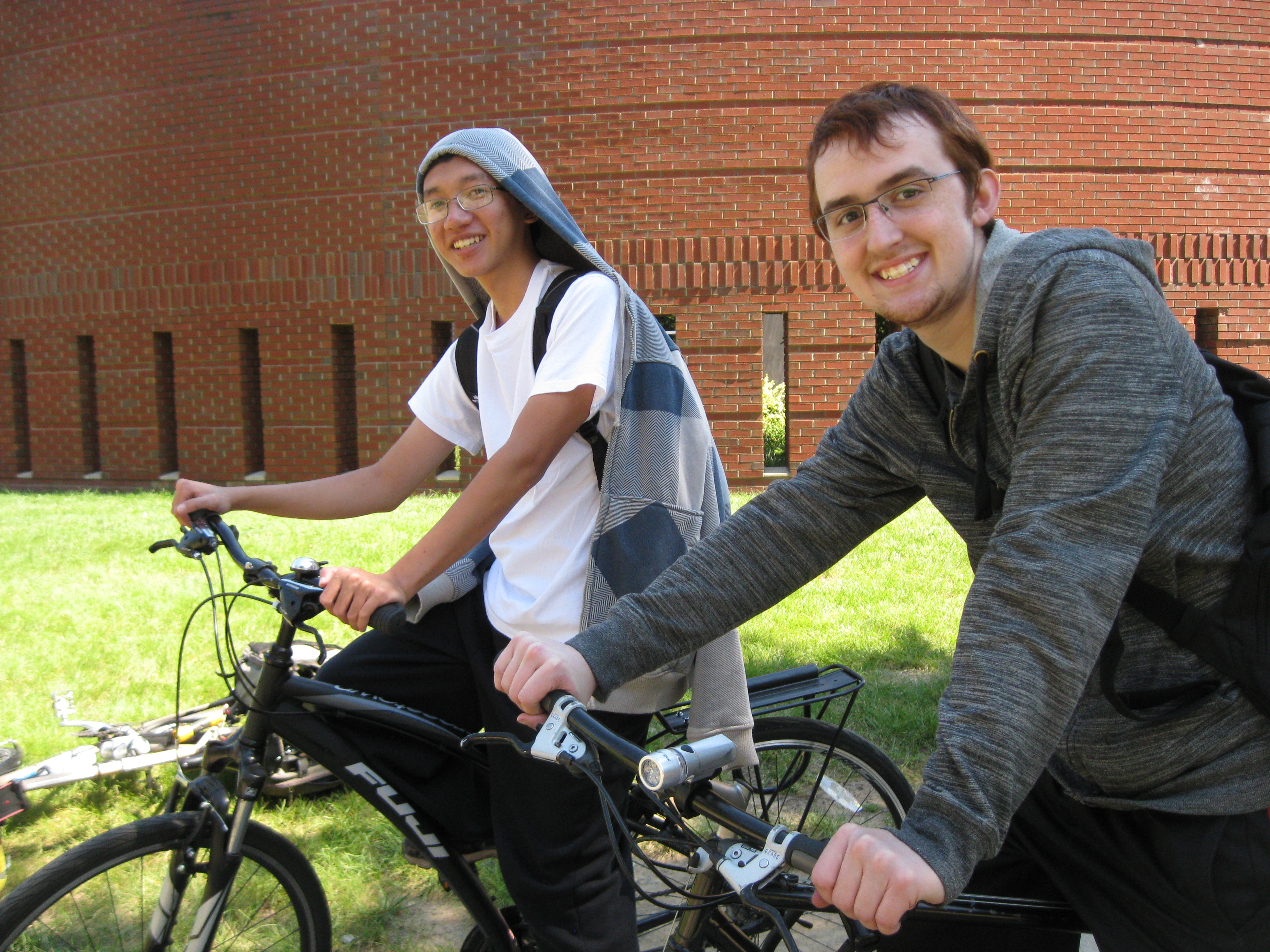 photo of students on bicycles