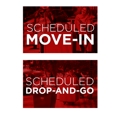 scheduled drop-and-go and scheduled move-in