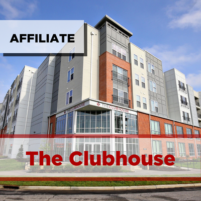 exterior of the clubhouse apartments