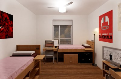double room in new hall