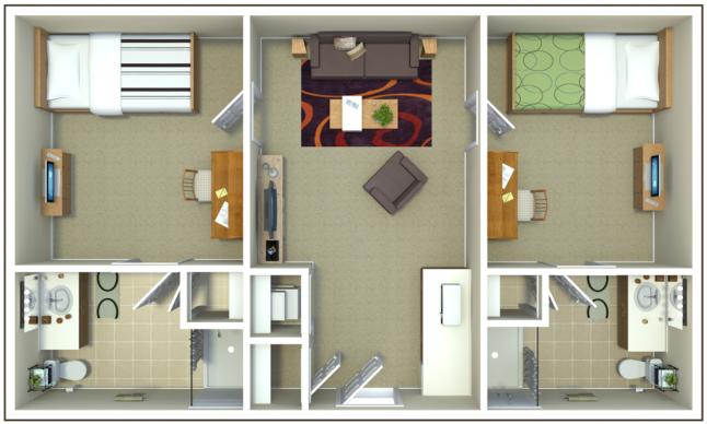 Floorplan of BMH 2x2