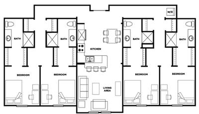 Four bedroom, four bathroom at Cardinal Towne