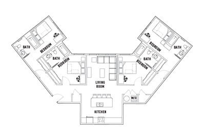Floorplan E at University Pointe