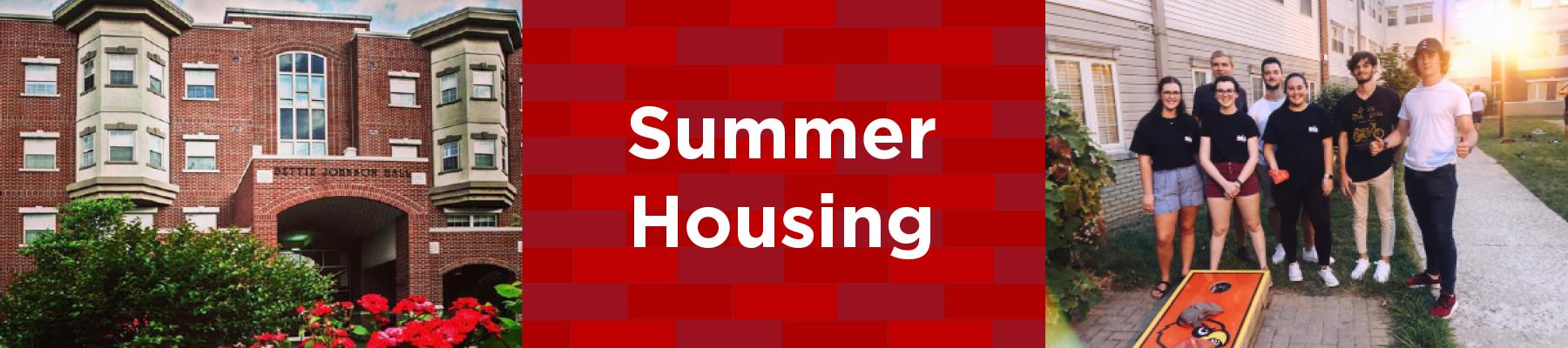 summer housing in bettie johnson hall