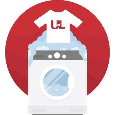 image of t-shirt and washing machine