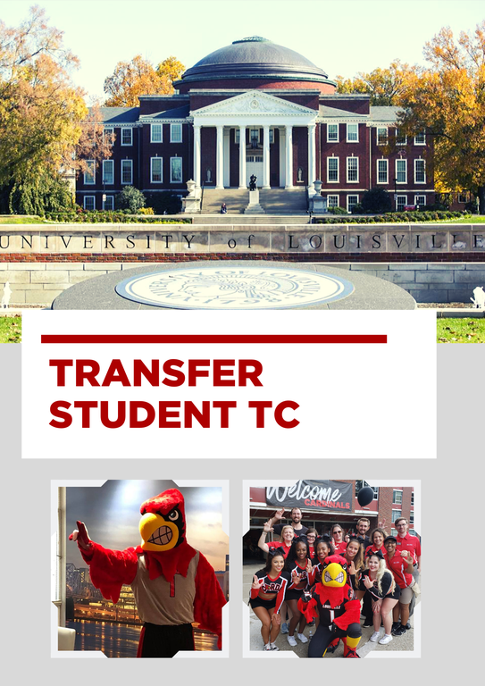 photo of uofl presidents office with cardinal mascot and students