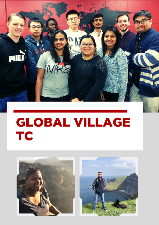 image of international students smiling and american students studying abroad