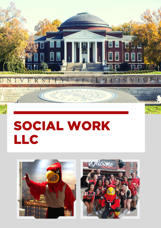 photo of uofl presidents office and cardinal mascot with students