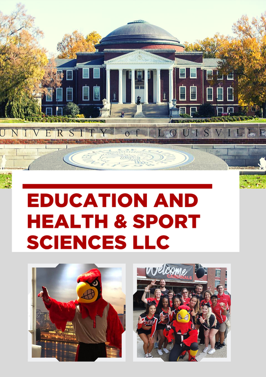 Photo of UofL presidents office and cardinal bird. Join the Education and health and sport sciences llc.