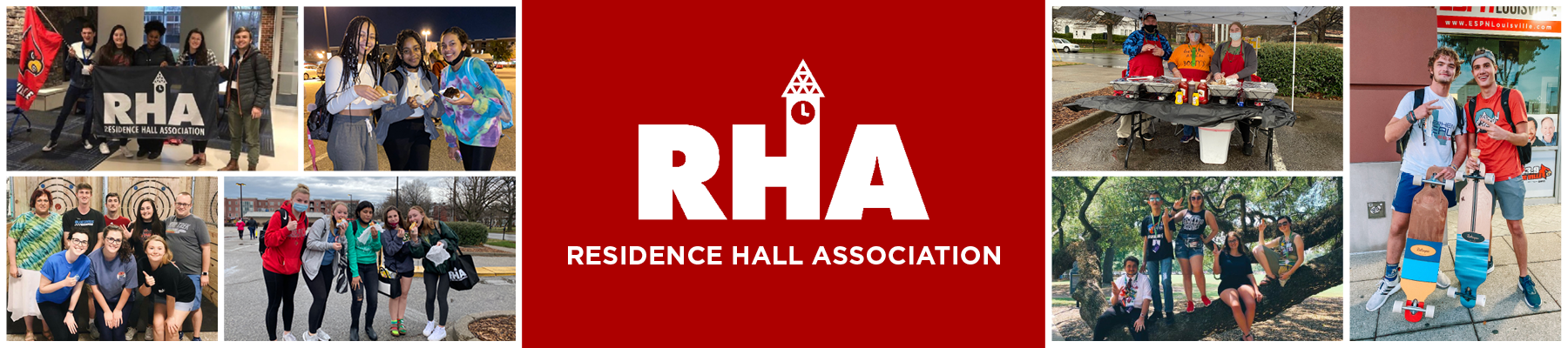 residence hall association and students on campus