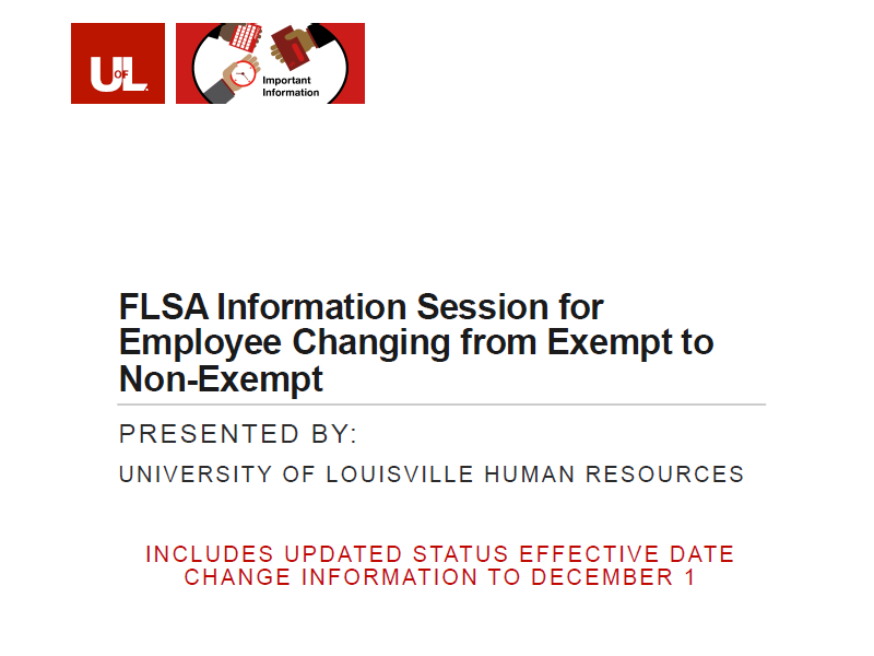 Link to updated FLSA presentation