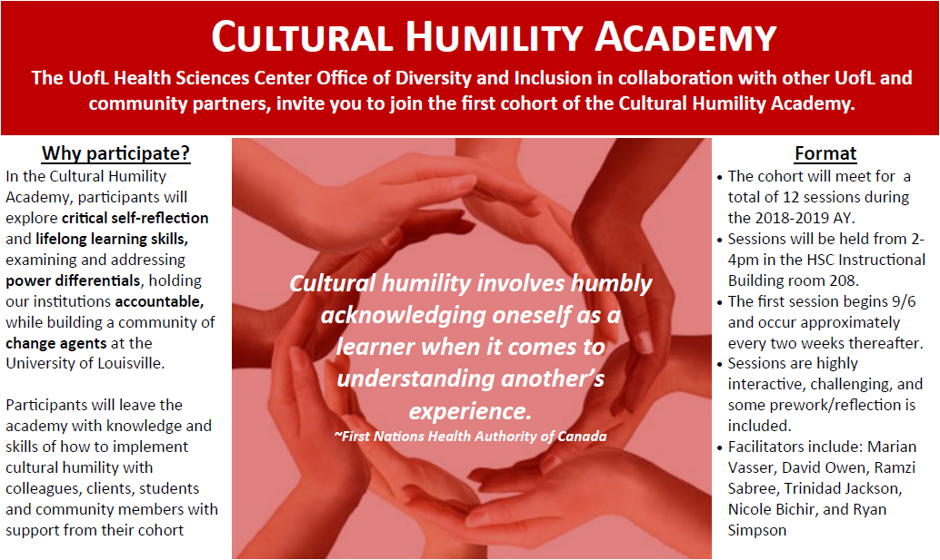 Cultural Humility Academy Flyer