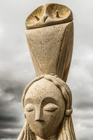 Ancient sculpture of Athena
