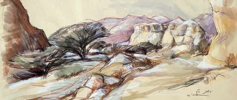 painting of the desert