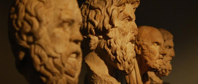 busts of Greek philosophers