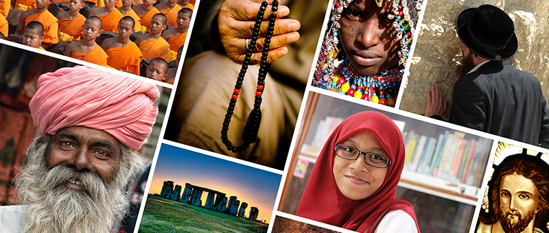 mosaic of people from various religious backgrounds