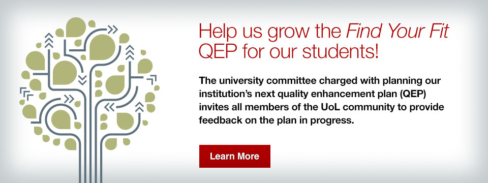 Help us grow the Find Your Fit QEP for our students