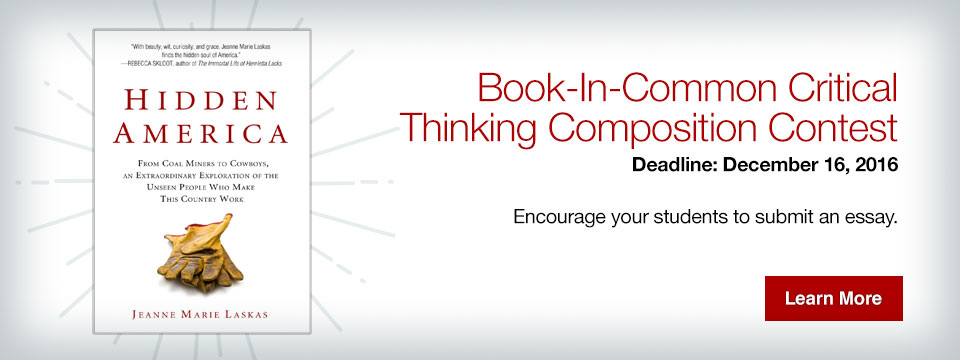 Book-In-Common critical thinking composition contest