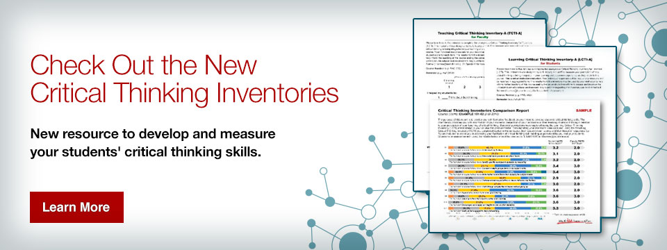 Check out the new critical thinking inventories