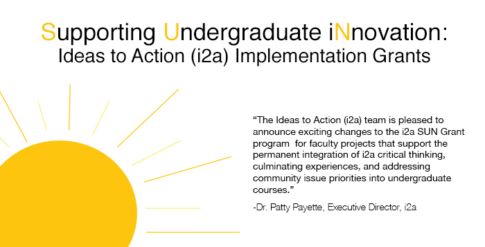 Supporting Undergraduate Innovation: Ideas to Action (i2a) Implementation Grants