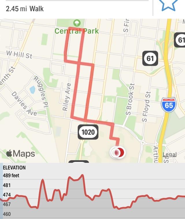 jogging route map