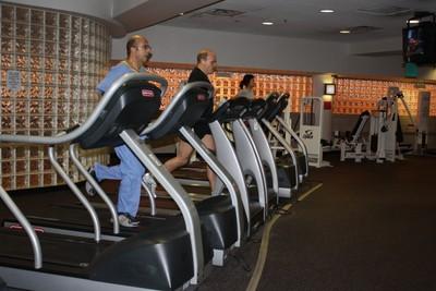 People using treadmills