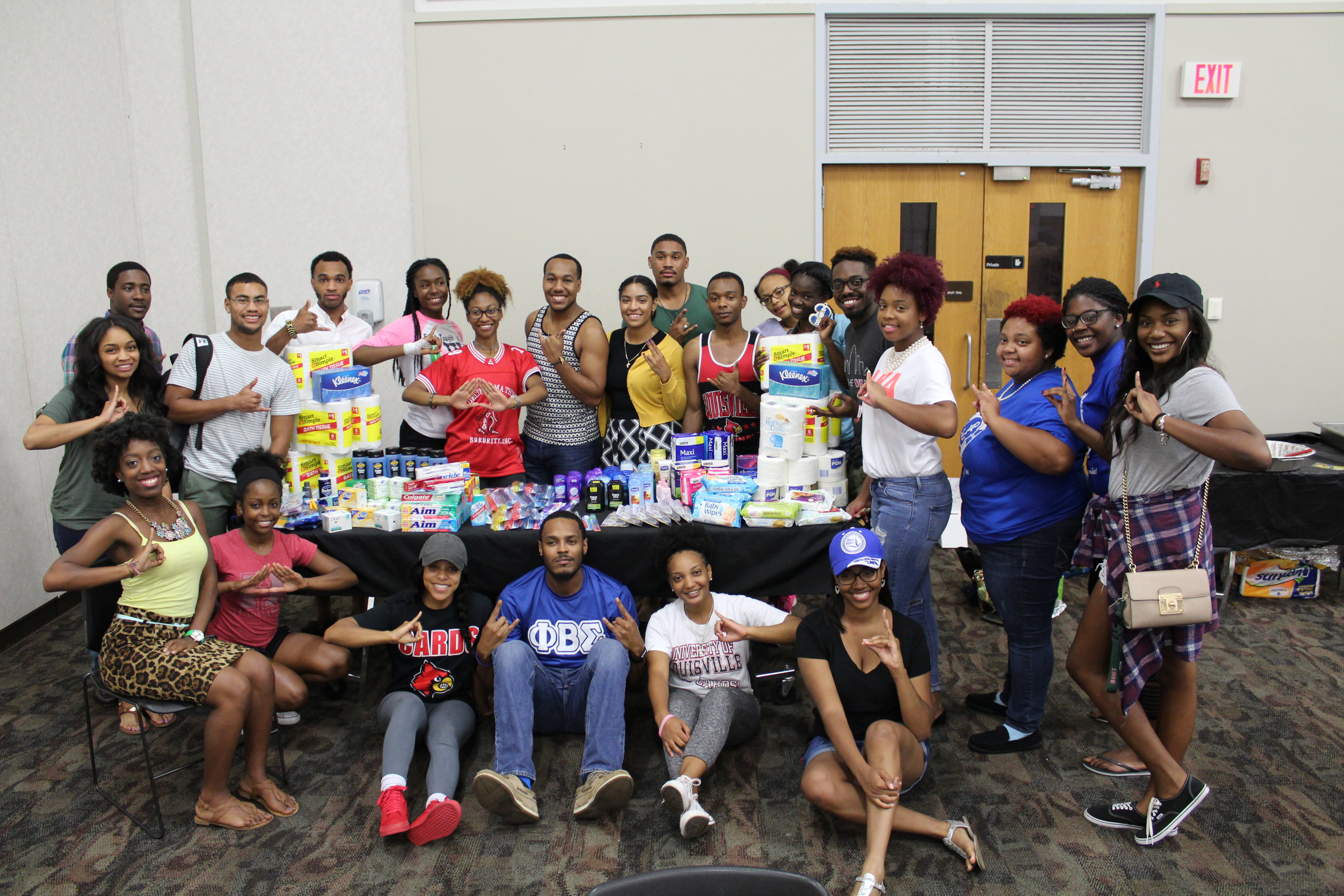 NPHC students gathered around a table