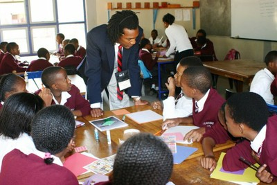 UofL student teaching in Botswana