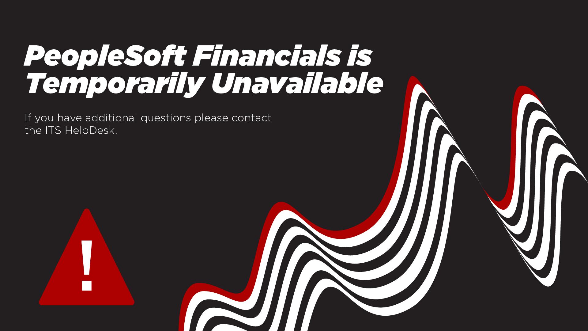 Financials is Temporarily Unavailable