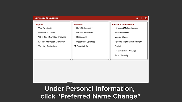 How to Update your Preferred Name video screenshot