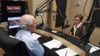 jpeg of Dr Keeling with Mark Hebert on UofL Radio show