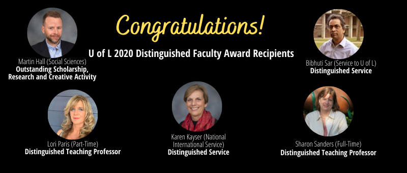 2020 Distinguished faculty awards
