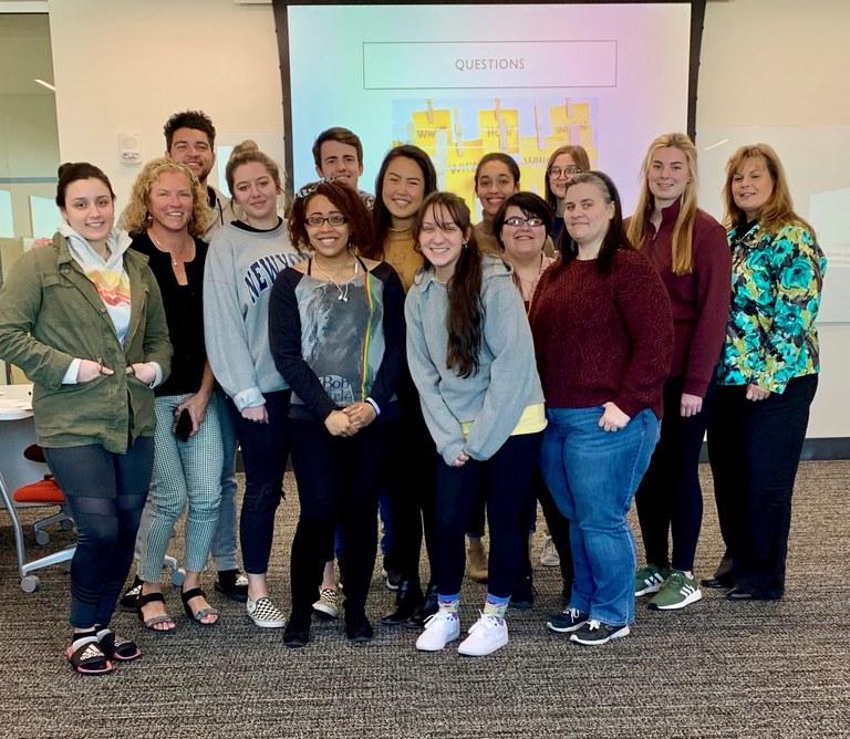 Debbie Durkin visit BSW students