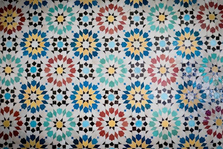 Arabic tile mosaic