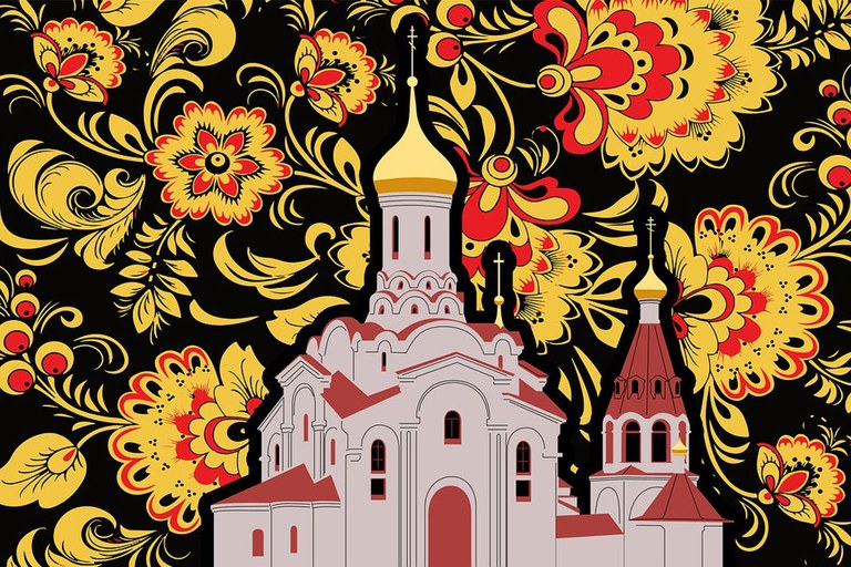 Russian Cathedral Illustration