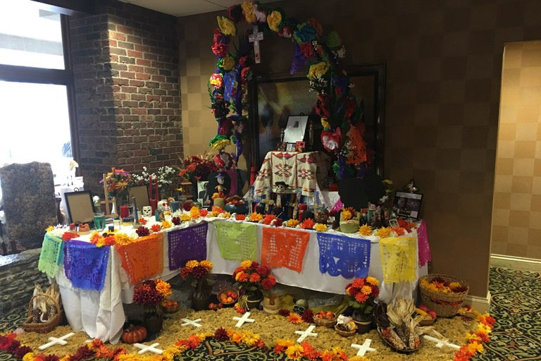Day of the Dead event display