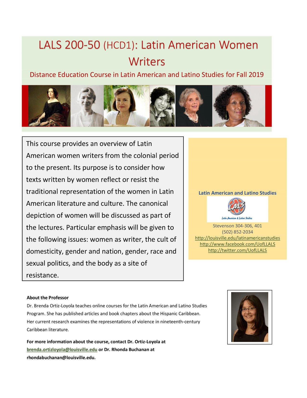 LALS 200 - Latin American Women Writers