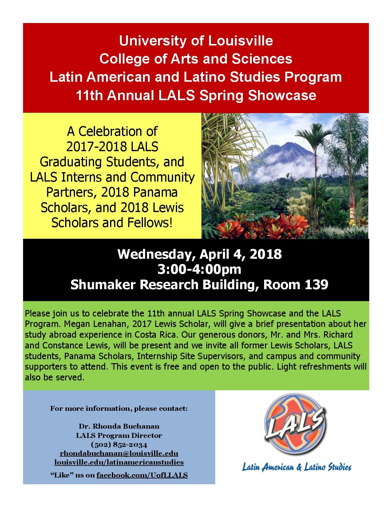 11th Annual Latin American and Latino Studies Spring Showcase