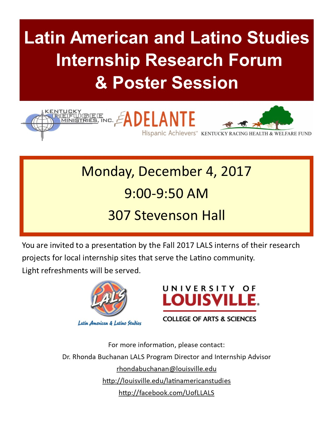 Latin American and Latino Studies Fall Internship Research Forum & Poster Session