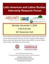 Latin American and Latino Studies Fall Internship Research Forum